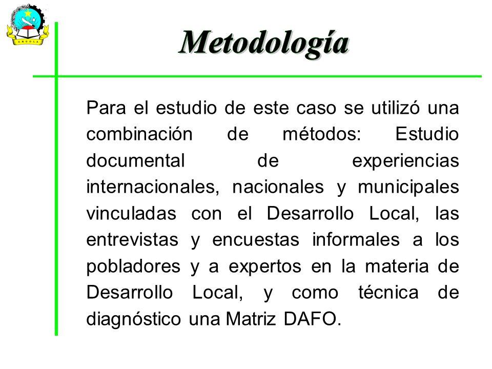 Para el estudio de este caso se utilizó una combinación de métodos: Estudio documental de experiencias internacionales, nacionales y municipales vincu