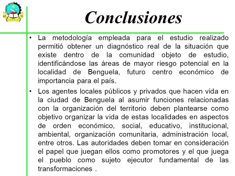 La metodología empleada para el estudio realizado permitió obtener un diagnóstico real de la situación que existe dentro de la comunidad objeto de est