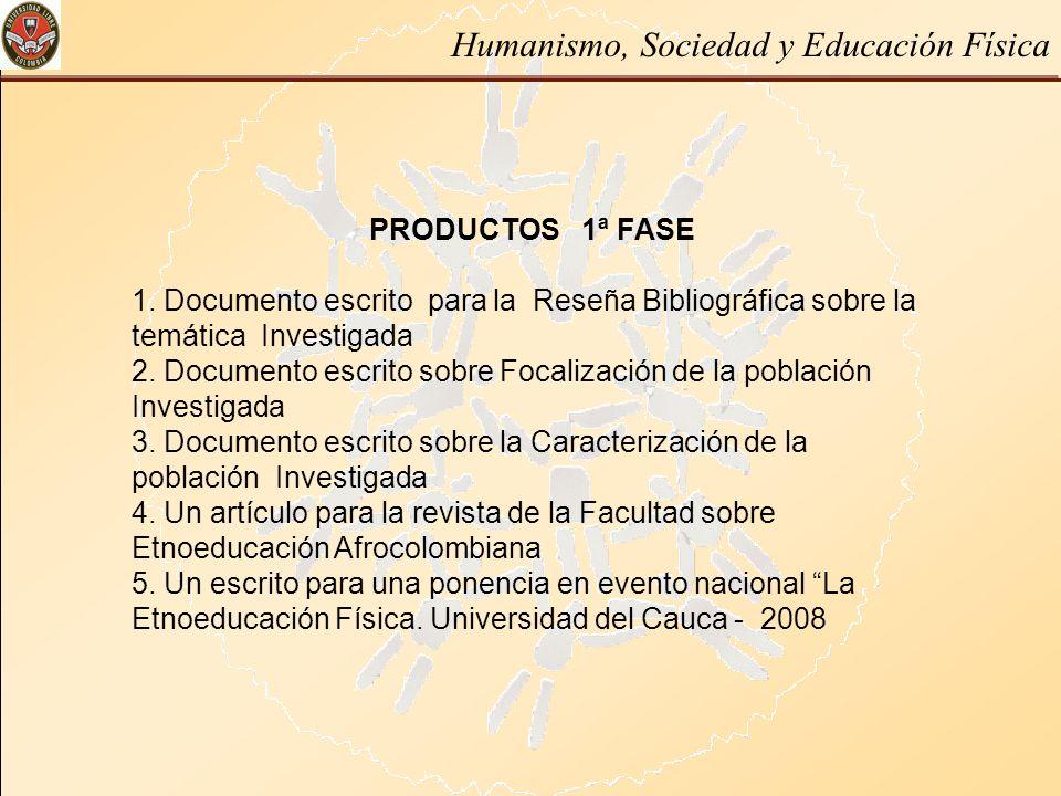 PRODUCTOS 1ª FASE 1. Documento escrito para la Reseña Bibliográfica sobre la temática Investigada 2. Documento escrito sobre Focalización de la poblac