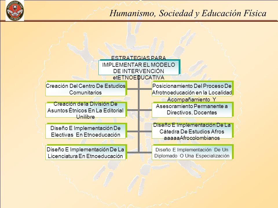 Humanismo, Sociedad y Educación Física ESTRATEGIAS PARA IMPLEMENTAR EL MODELO DE INTERVENCIÓN etETNOEDUCATIVA Creación Del Centro De Estudios Comunita