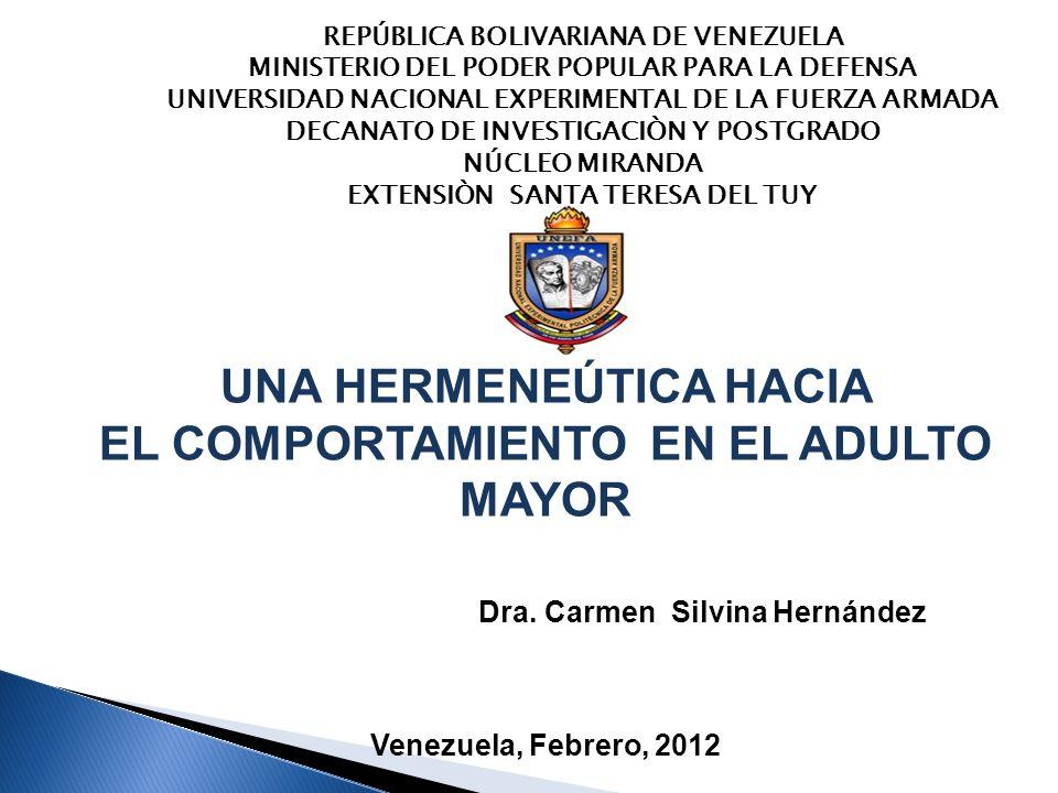 REPÚBLICA BOLIVARIANA DE VENEZUELA MINISTERIO DEL PODER POPULAR PARA LA DEFENSA UNIVERSIDAD NACIONAL EXPERIMENTAL DE LA FUERZA ARMADA DECANATO DE INVE