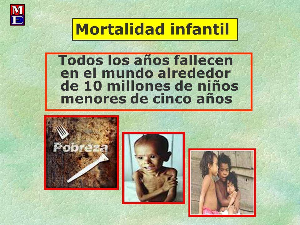 Todos los años fallecen en el mundo alrededor de 10 millones de niños menores de cinco años Mortalidad infantil