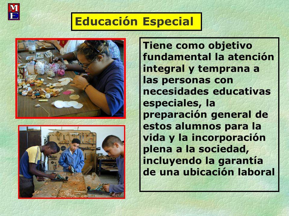 Educación Especial Tiene como objetivo fundamental la atención integral y temprana a las personas con necesidades educativas especiales, la preparació