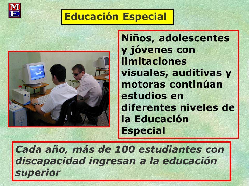 Niños, adolescentes y jóvenes con limitaciones visuales, auditivas y motoras continúan estudios en diferentes niveles de la Educación Especial Educaci