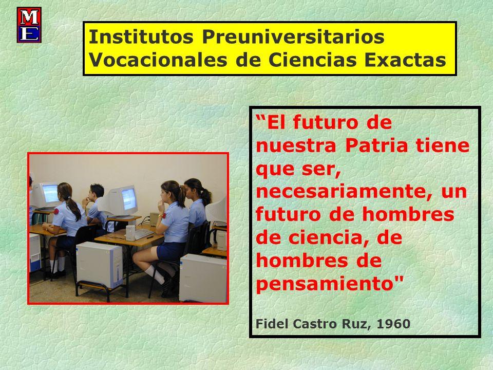 El futuro de nuestra Patria tiene que ser, necesariamente, un futuro de hombres de ciencia, de hombres de pensamiento