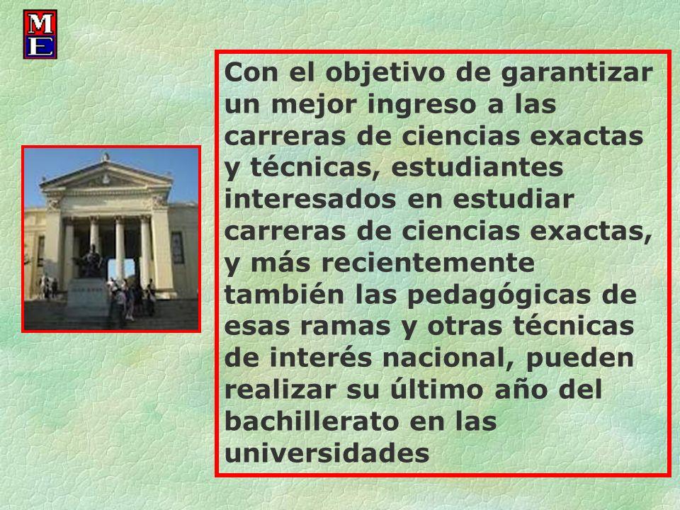 Con el objetivo de garantizar un mejor ingreso a las carreras de ciencias exactas y técnicas, estudiantes interesados en estudiar carreras de ciencias