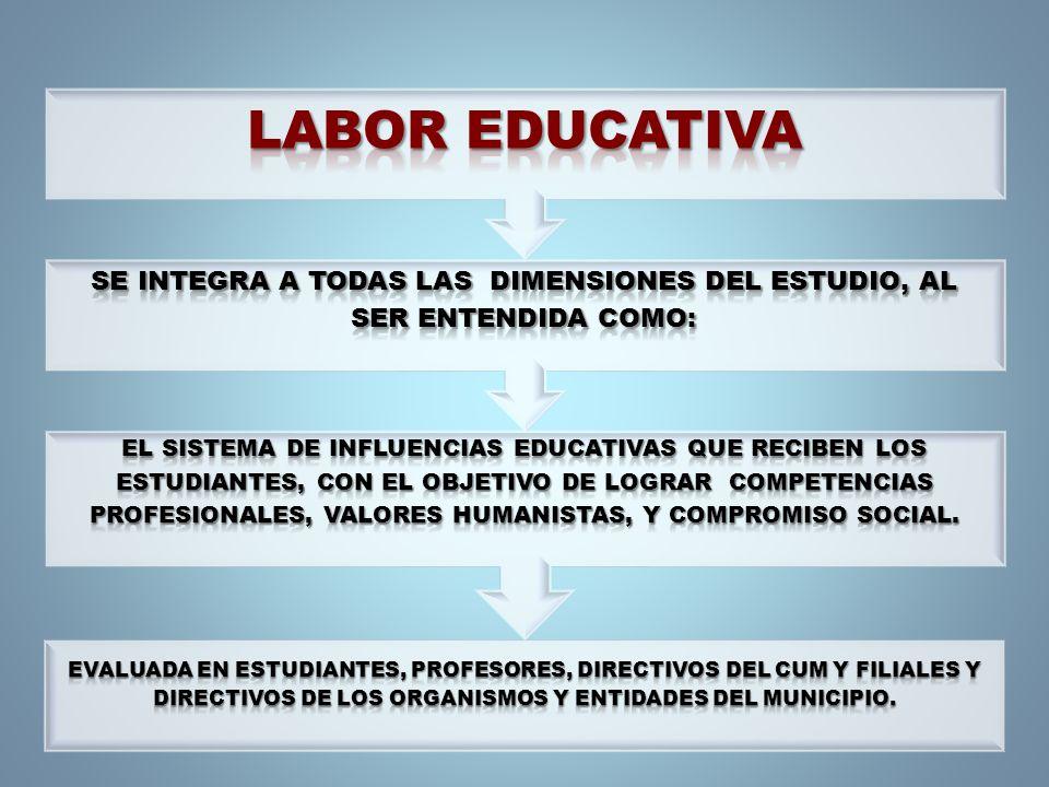 ALGUNOS ASPECTOS PARA LA EVALUACIÓN DE LA LABOR EDUCATIVA