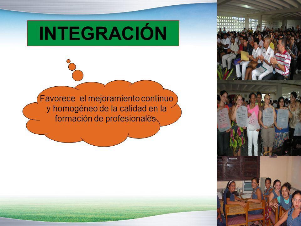 www.themegallery.com Favorece el mejoramiento continuo y homogéneo de la calidad en la formación de profesionales.