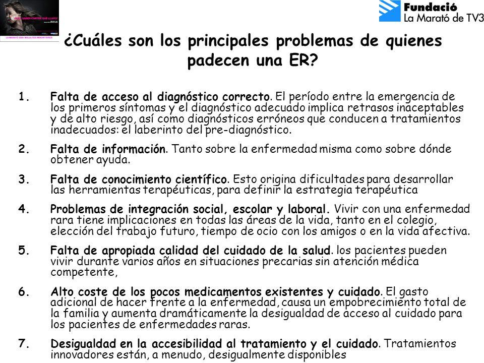 ¿Cuáles son los principales problemas de quienes padecen una ER.