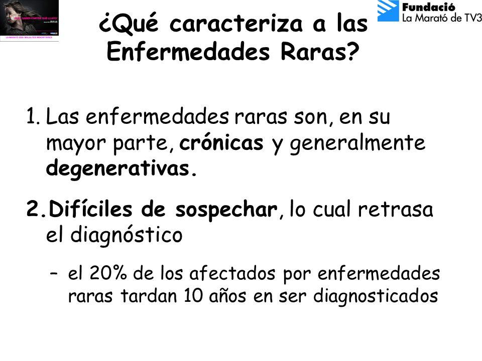 ¿Qué caracteriza a las Enfermedades Raras.