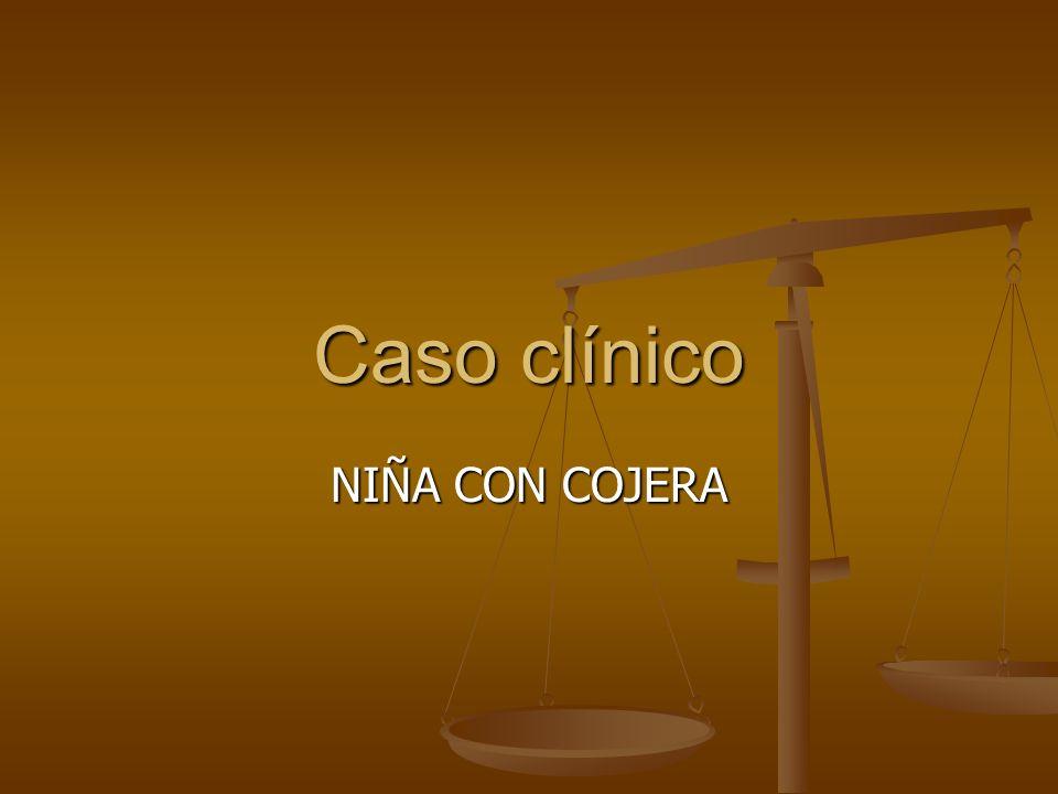 NIÑA DE 18 MESES CON COJERA DE 2 ½ MESES AF: Tio con posible artritis no filiada .