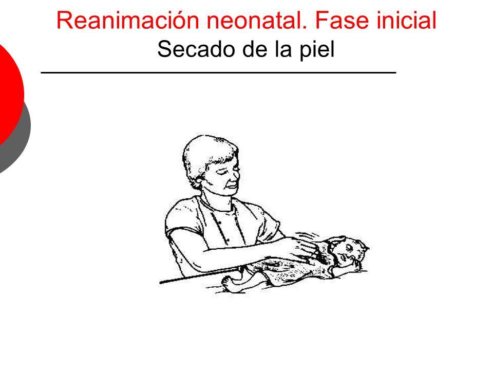 Reanimación neonatal. Fase inicial Secado de la piel