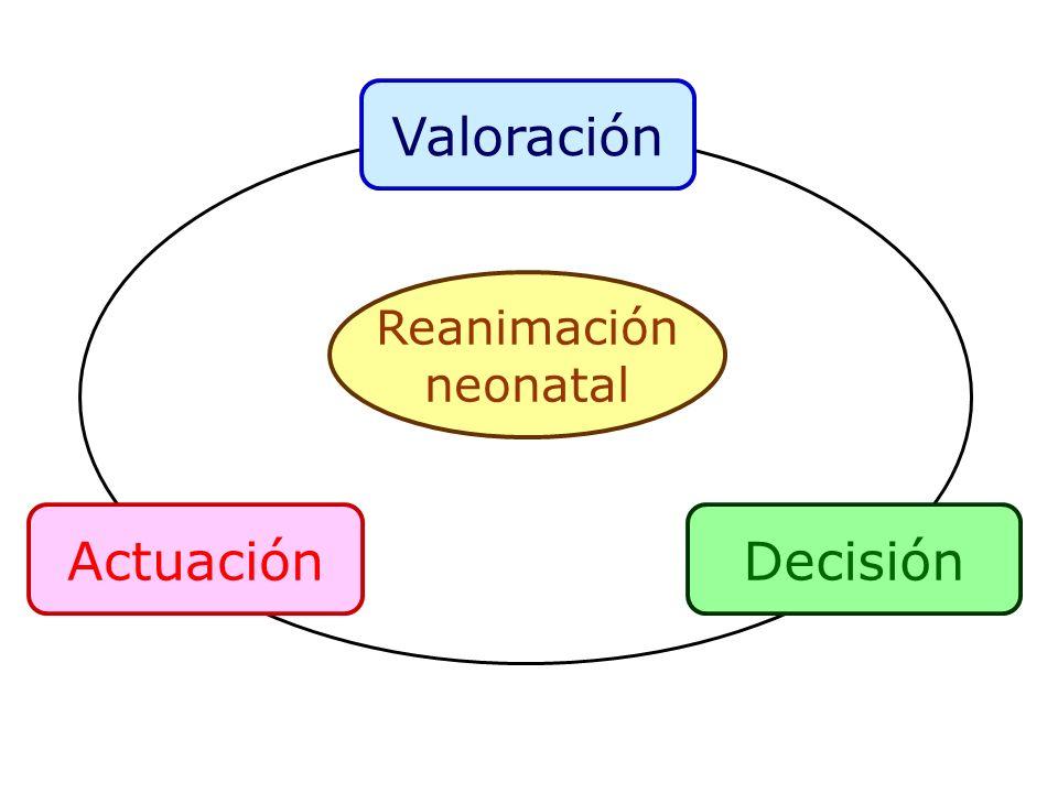 Valoración ActuaciónDecisión Reanimación neonatal