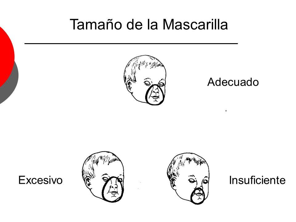 Tamaño de la Mascarilla Adecuado Excesivo Insuficiente