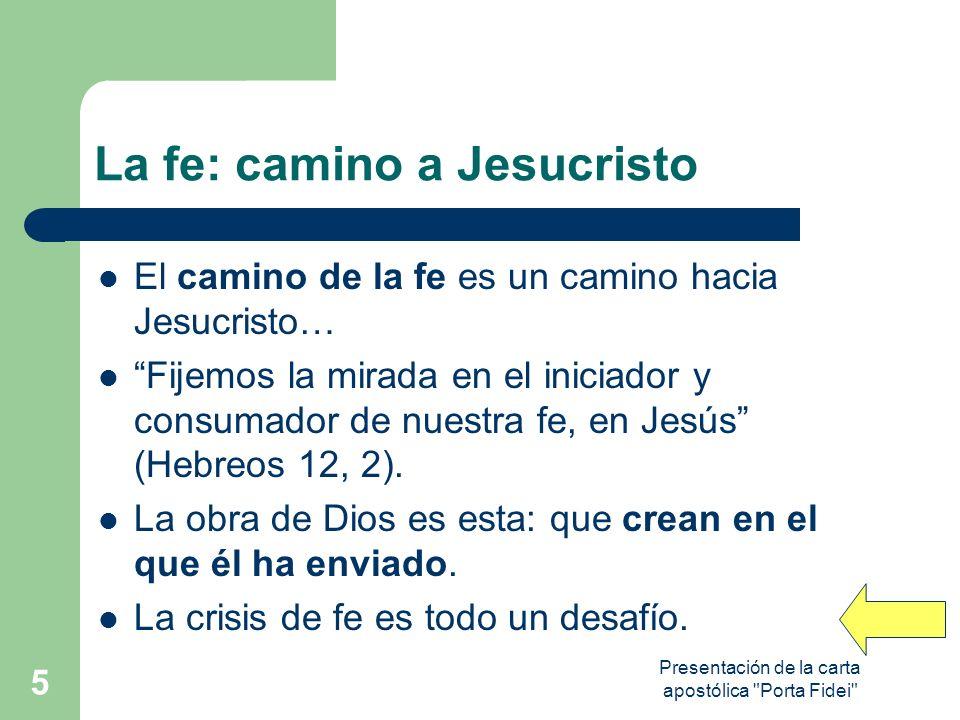 Presentación de la carta apostólica Porta Fidei 16 EN EL CATECISMO Subsidio precioso e indispensable: # para tener un conocimiento sistemático del contenido de la fe.