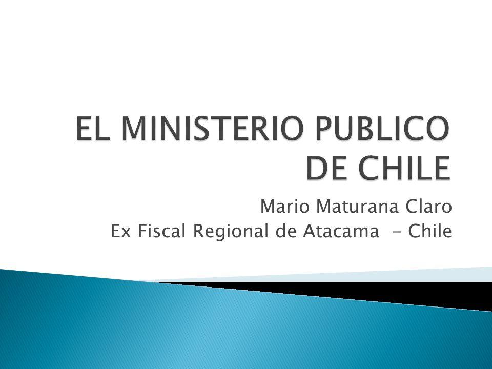 El Ministerio Público una creación reciente.