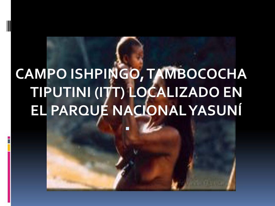 CAMPO ISHPINGO, TAMBOCOCHA TIPUTINI (ITT) LOCALIZADO EN EL PARQUE NACIONAL YASUNÍ