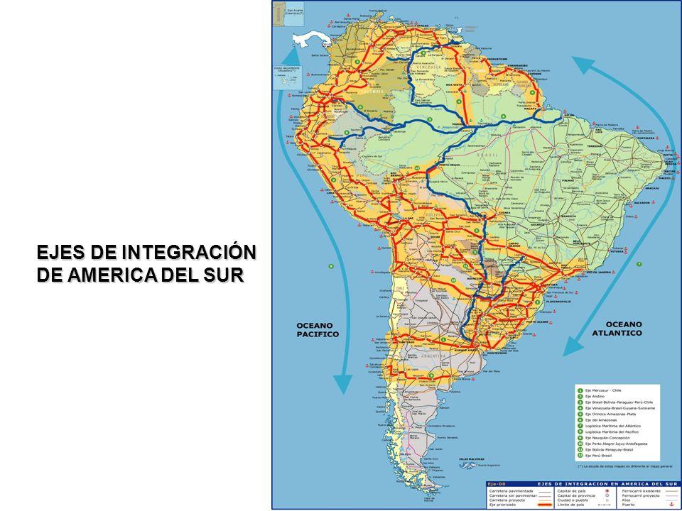 12 EJES DE INTEGRACIÓN DE AMERICA DEL SUR