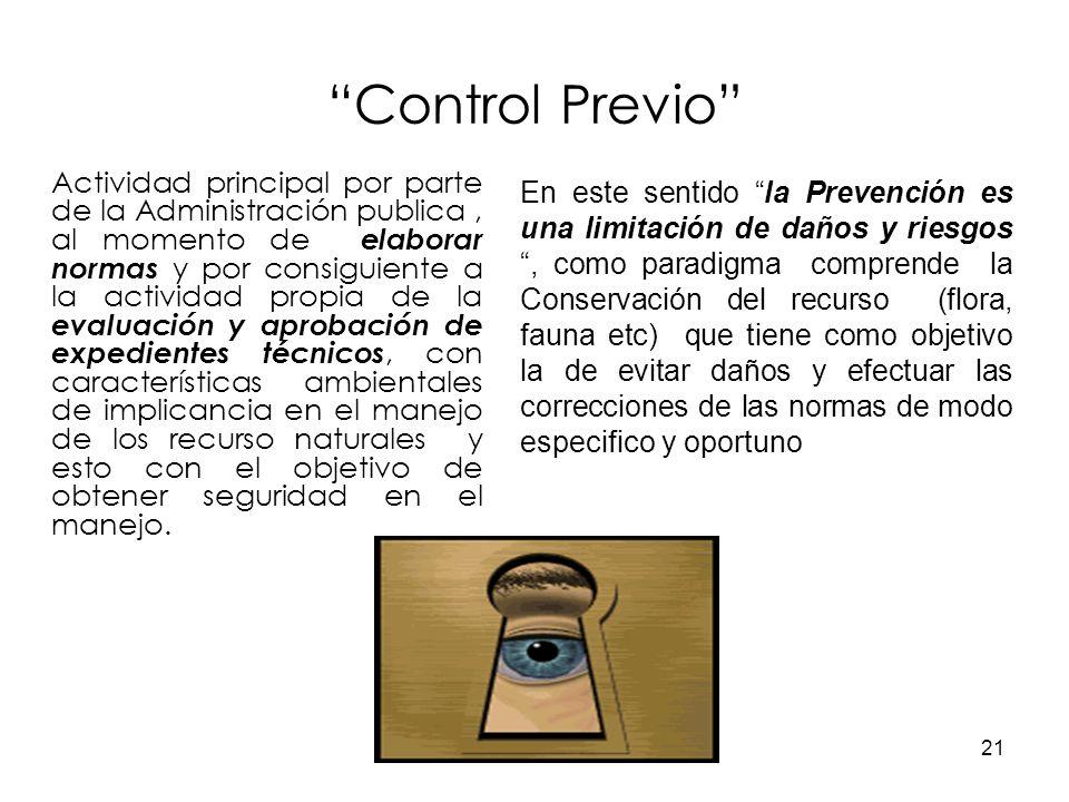 21 Control Previo Actividad principal por parte de la Administración publica, al momento de elaborar normas y por consiguiente a la actividad propia d