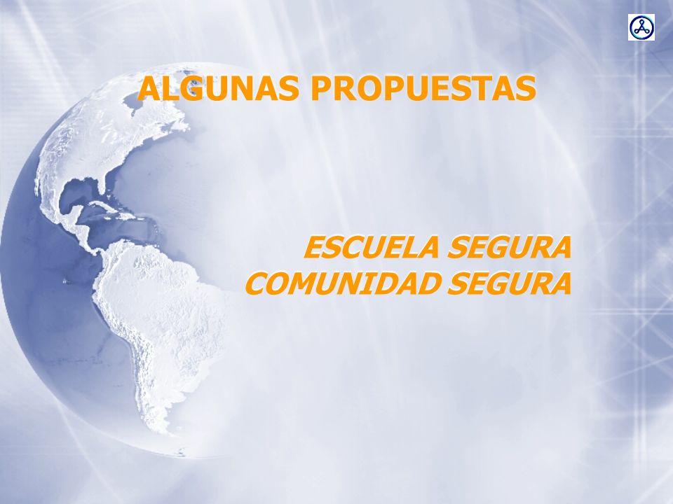 ALGUNAS PROPUESTAS ESCUELA SEGURA COMUNIDAD SEGURA