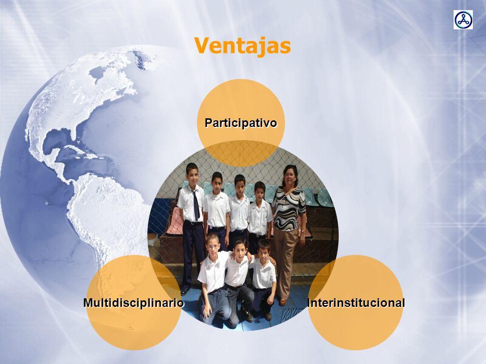 Ventajas Participativo MultidisciplinarioInterinstitucional