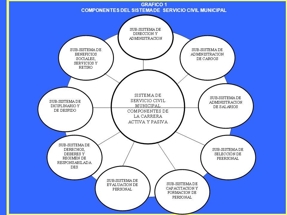 GRAFICO 1 COMPONENTES DEL SISTEMA DE SERVICIO CIVIL MUNICIPAL
