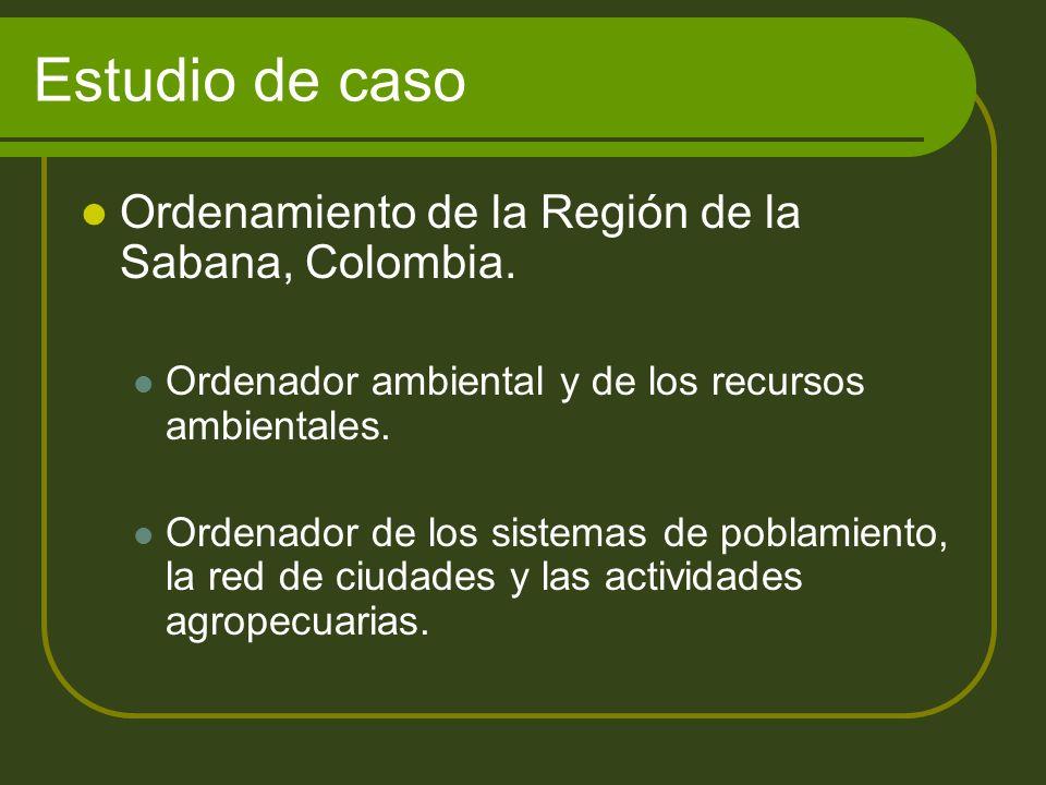 Estudio de caso Ordenamiento de la Región de la Sabana, Colombia.