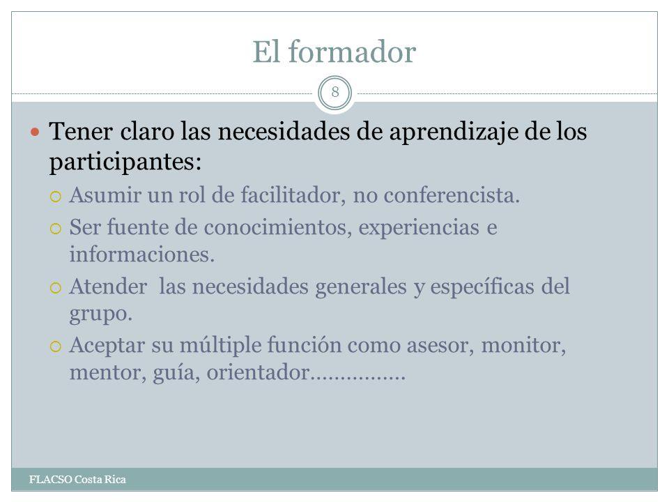 Ejercicio sobre la sesión sobre empleo FLACSO Costa Rica 29 ¿Qué se buscaba.
