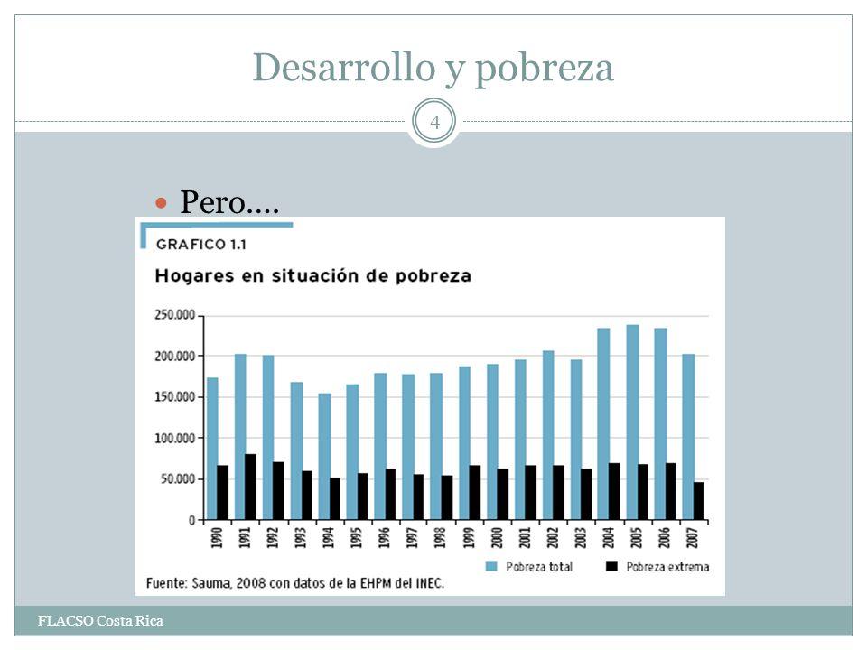 Desarrollo y pobreza Pero…. FLACSO Costa Rica 4