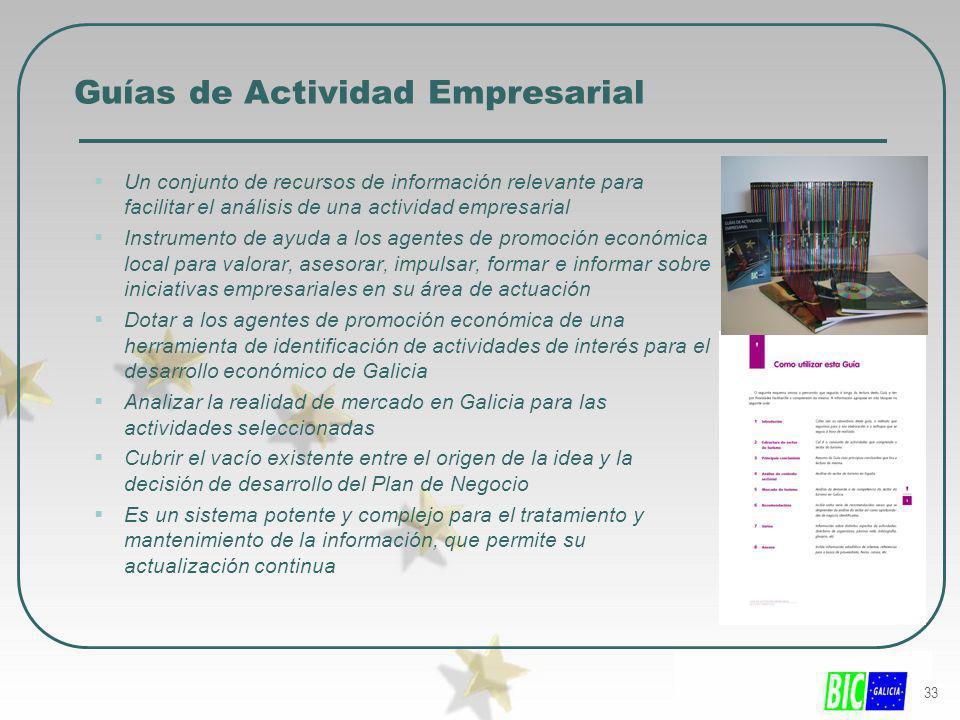 33 Guías de Actividad Empresarial Un conjunto de recursos de información relevante para facilitar el análisis de una actividad empresarial Instrumento