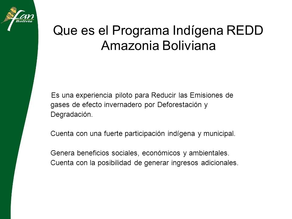 Transferencias del sistema de monitoreo Actualmente, se trabaja para transmitir las capacidades técnicas del sistema de monitoreo de la deforestación a los Gobiernos municipales Se pretende en mediano plazo que el sistema de monitoreo sea realizado por actores locales del sitio del Programa Indígena REDD – Amazonia.