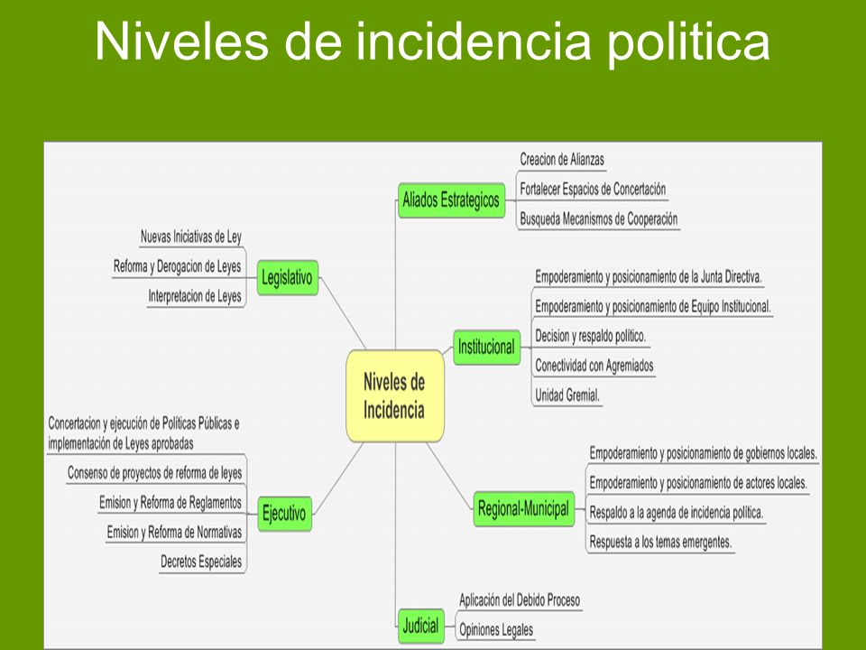 Estructura de coordinación de incidencia política