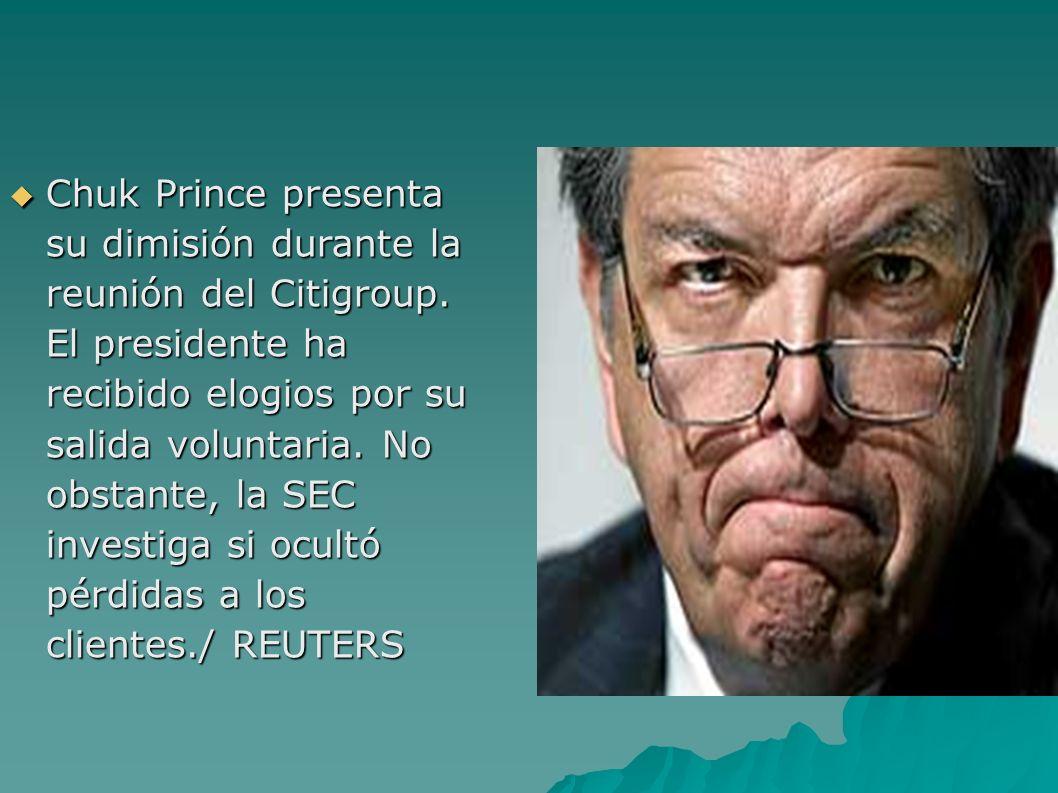 Chuk Prince presenta su dimisión durante la reunión del Citigroup.