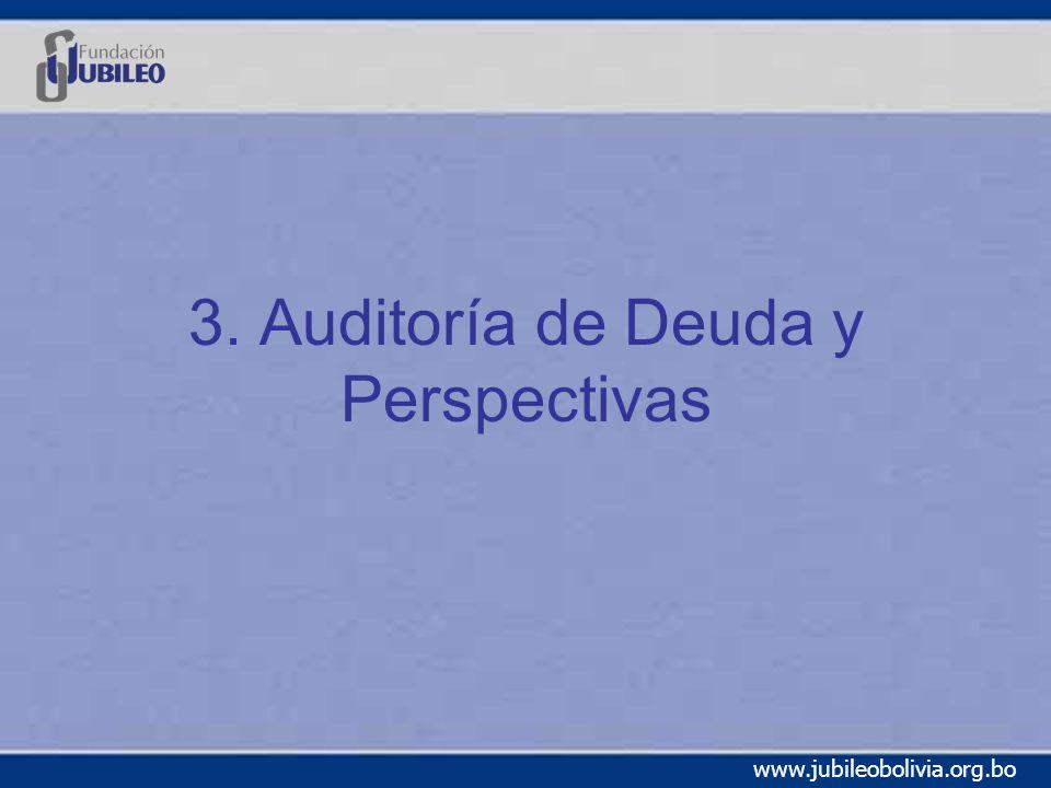 www.jubileobolivia.org.bo 3. Auditoría de Deuda y Perspectivas
