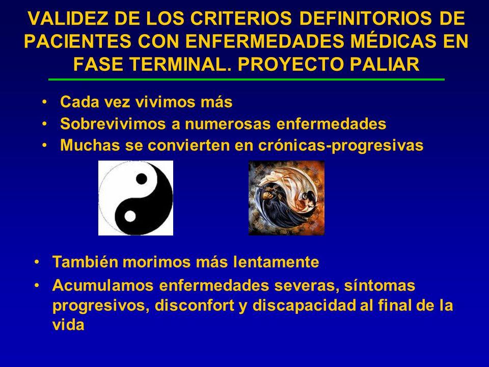 PROYECTO PALIAR.DESARROLLO DEL PROYECTO FILIACIÓN-DEMOGRAFICOS CLÍNICOS Datos enf.