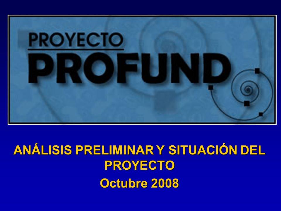 ANÁLISIS PRELIMINAR Y SITUACIÓN DEL PROYECTO Octubre 2008