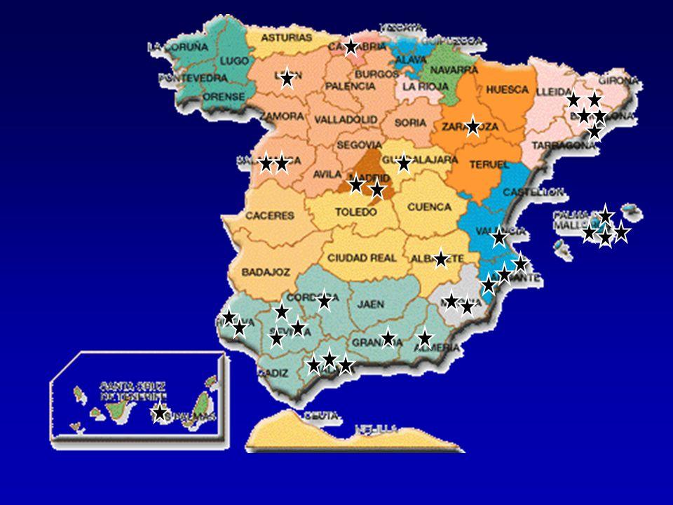 1- Hospital General Universitario de Elche: HGE 2- Hospital Universitario Gregorio Marañón de Madrid: HGM 3- Hospital Clínico de Barcelona.