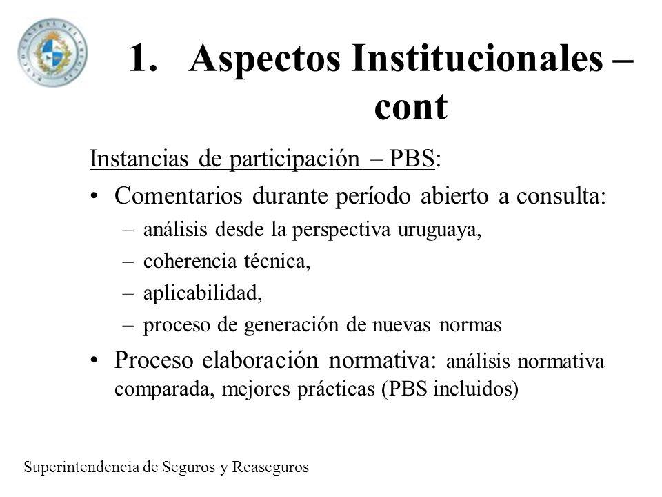 1.Aspectos Institucionales - cont.