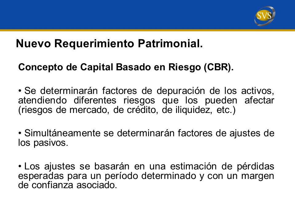 Nuevo Requerimiento Patrimonial.Concepto de Capital Basado en Riesgo (CBR).