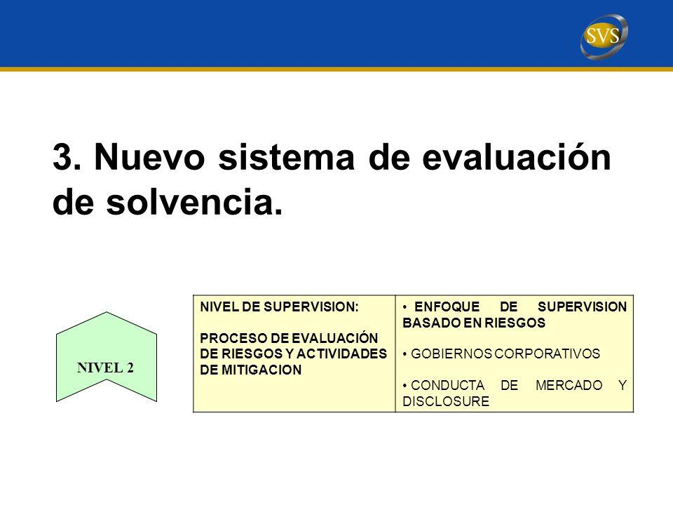 3.Nuevo sistema de evaluación de solvencia.