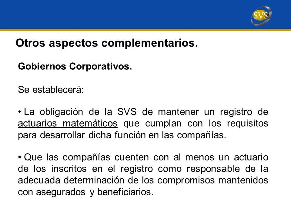 Gobiernos Corporativos.