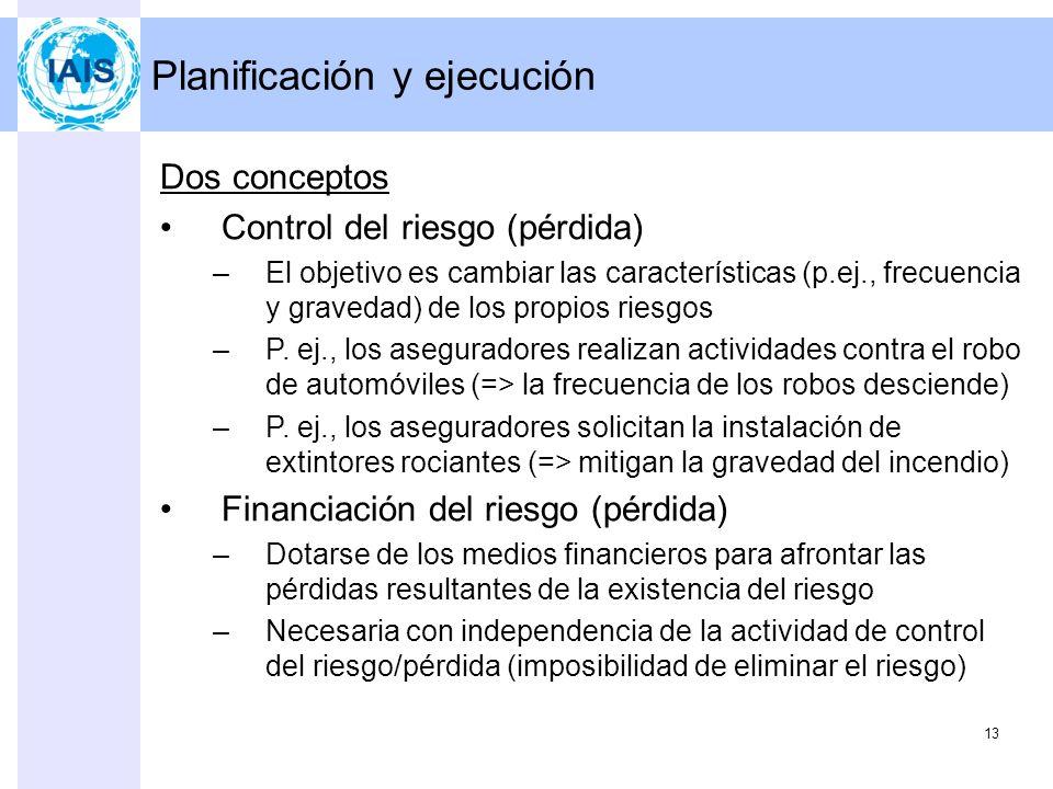 12 Programa 1.Actividades de control 2.Fijación de objetivos 3.Identificación de riesgos –Principales riesgos 4.Evaluación del riesgo 5.Planificación