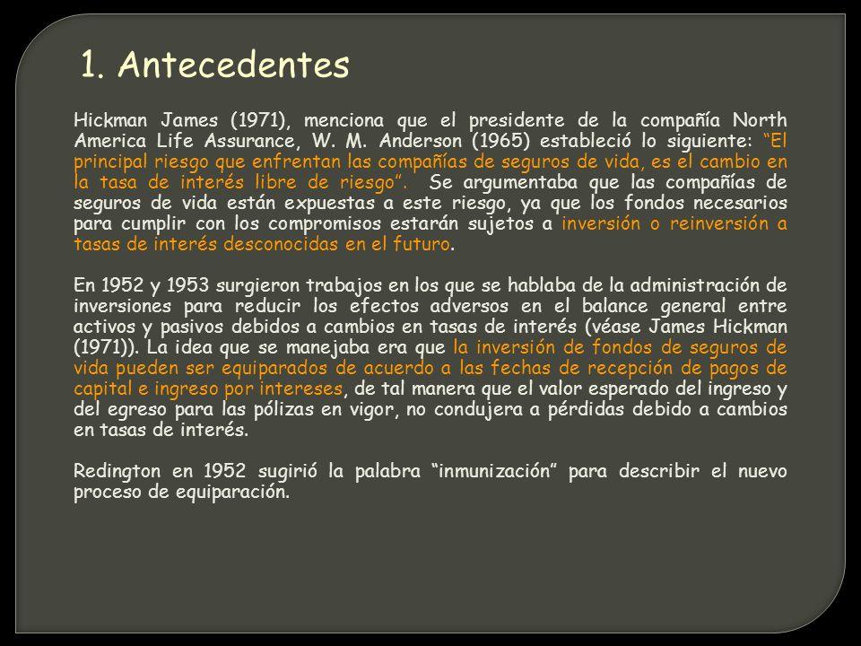 Hickman James (1971), menciona que el presidente de la compañía North America Life Assurance, W.