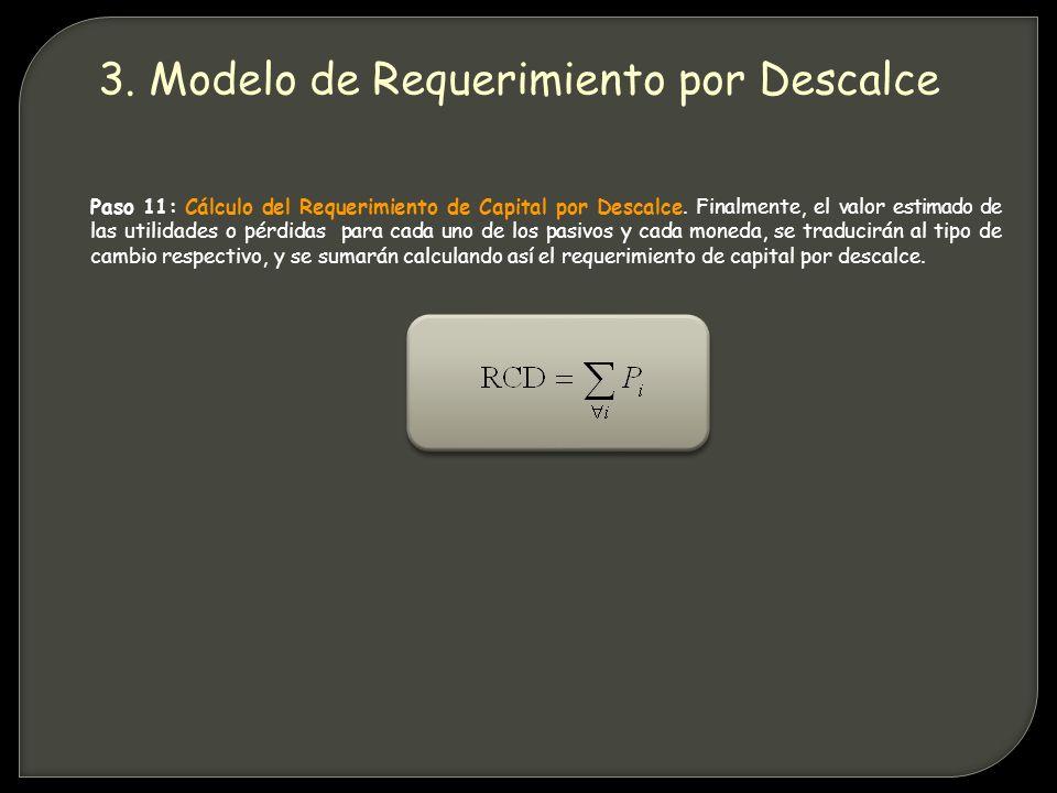 Paso 11: Cálculo del Requerimiento de Capital por Descalce.