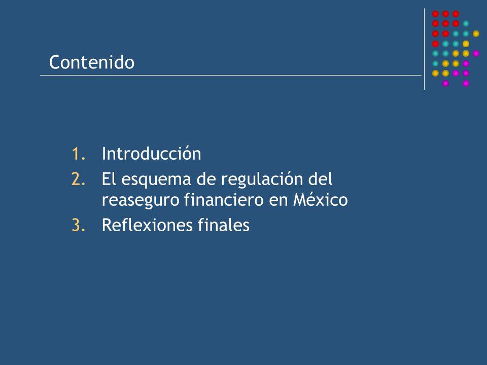 Contenido 1.Introducción 2.El esquema de regulación del reaseguro financiero en México 3.Reflexiones finales