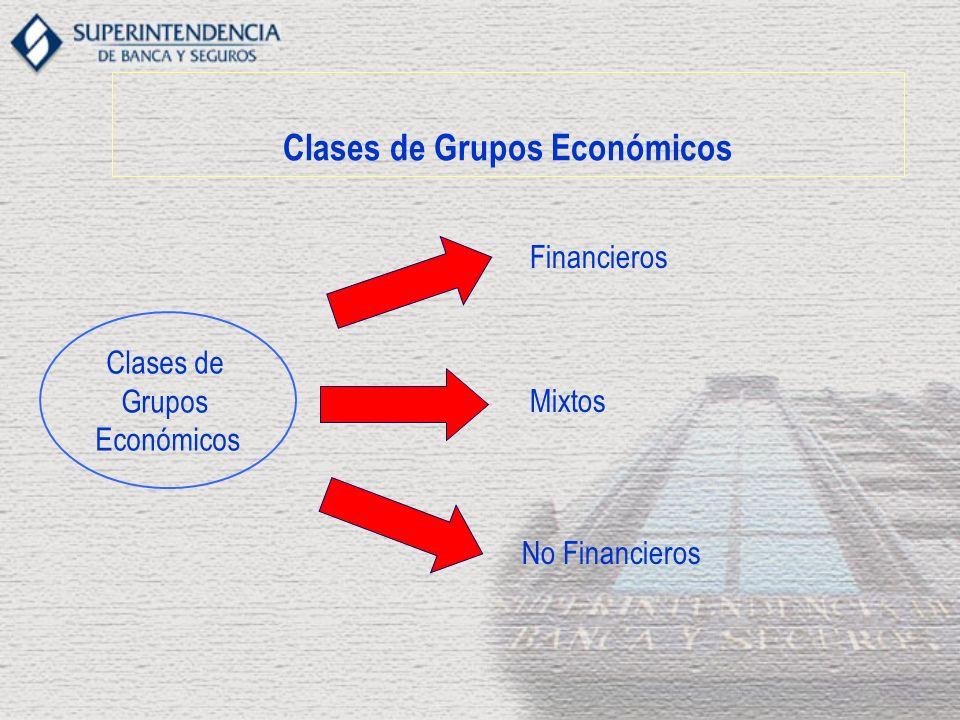Clases de Grupos Económicos Clases de Grupos Económicos Financieros Mixtos No Financieros