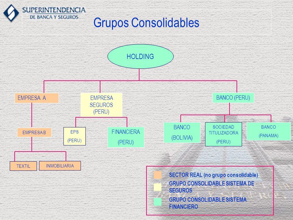Grupos Consolidables HOLDING EMPRESA A BANCO (PERU) EMPRESA SEGUROS (PERU) EPS (PERU) SOCIEDAD TITULIZADORA (PERU) BANCO (PANAMA) BANCO (BOLIVIA) FINA