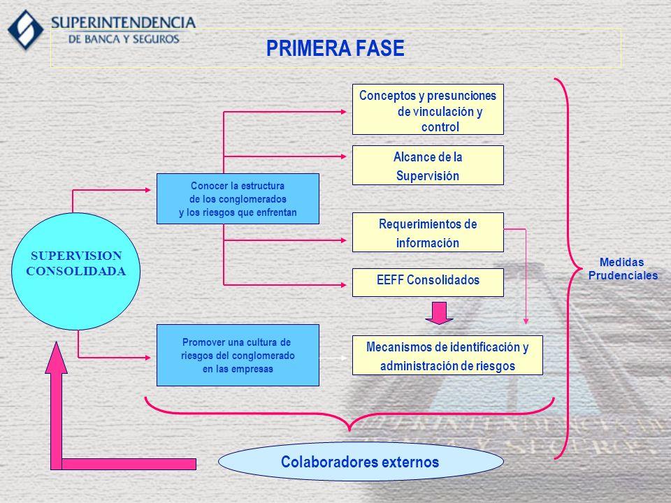 Requerimientos de información consolidada Estandarización de principales reportes EEFF consolidados Nuevos requerimientos de información Estados financieros del conglomerado y grupo consolidable (presentación y publicación).
