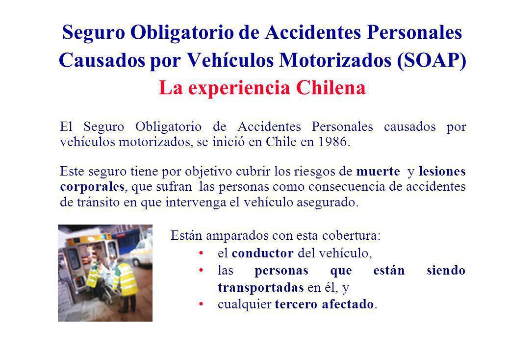 Seguro Obligatorio de Accidentes Personales Es un seguro que tuvo como objetivo principal, sólo ser una ayuda económica inmediata tanto para las personas que sufran un accidente automovilístico como para sus beneficiarios.