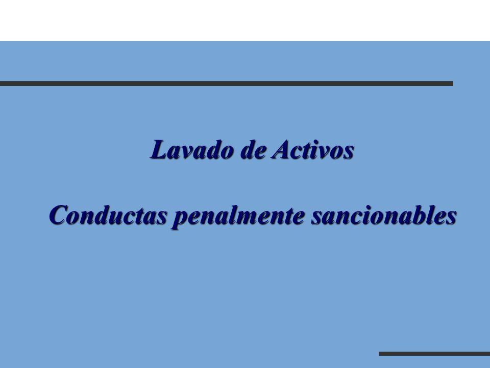 Lavado de Activos Conductas penalmente sancionables